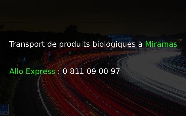 Transport de produits biologiques à Miramas